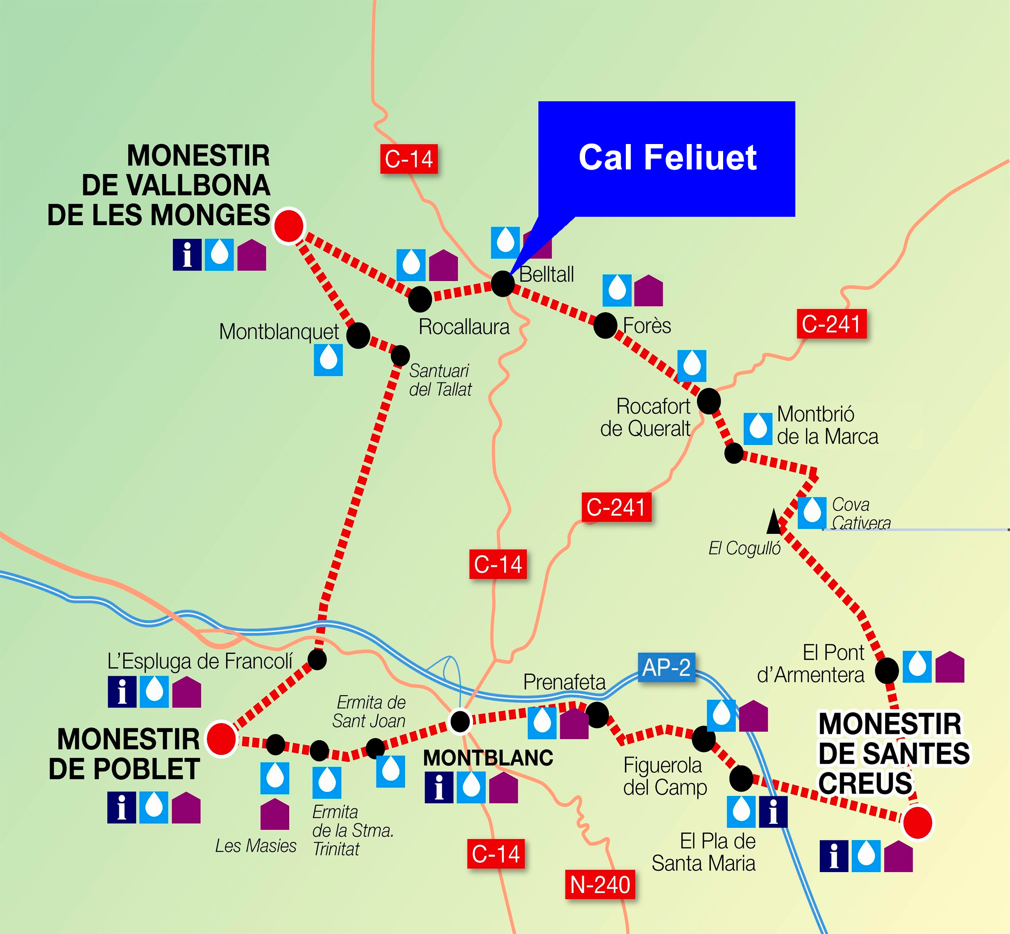 Conoce la ruta del Cister turismo rural en Belltall Tarragona